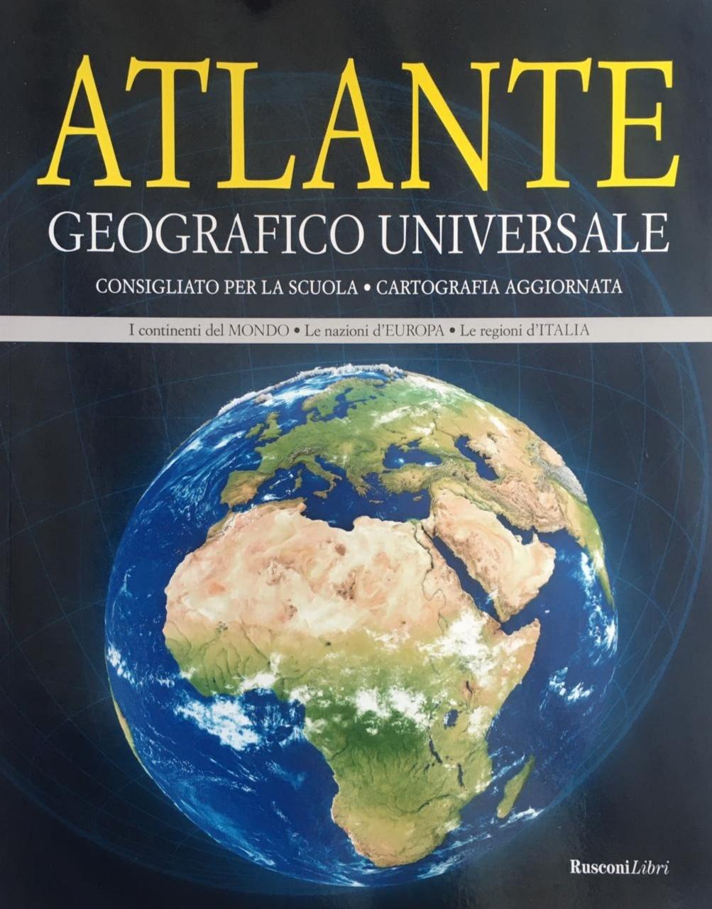 Atlante con cartine geografiche